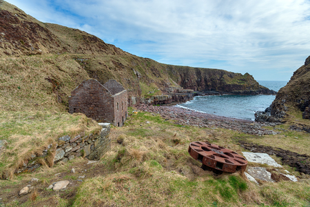 The abandoned harbour at Sarclet near Wick on the east coast of Scotland