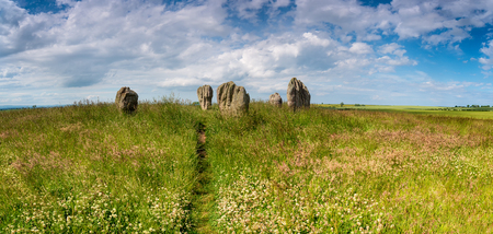 Summertime at the Duddo Stones, a small stone circle near the Scottish border in Northumberland