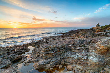 Sunrise at Howick beach near Alnwick on the Northumberland coast