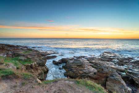 The rugged coastline at Howick near Alnwick in Northumberland