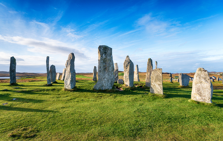 The Callanish Stones on the Isle of Lewis in Scotland 版權商用圖片