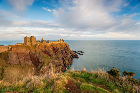 Dunnottar Castle at Stonehaven on the Aberdeenshire coast in Scotland Stock Photo