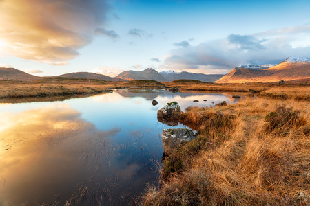 Lochan na Stainge at Glencoe in the Highlands of Scotland