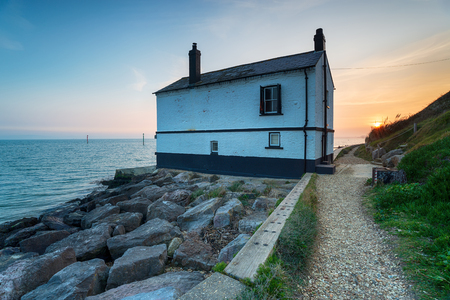 A house on the beach at Lepe in the New Forest National Park in Hampshire Reklamní fotografie