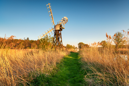 Boardman's Drainage Mill on the banks of the river Ant at How Hill on the Norfolk Broads