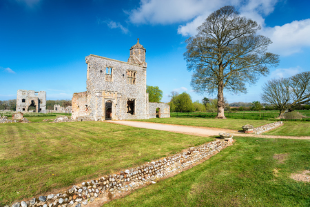 The 15th century ruins of Baconsthorpe Castle in Norfolk