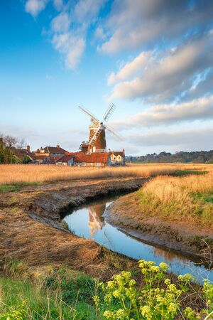The windmill at the pretty village of Cley Next to the Sea on the Norfolk coast