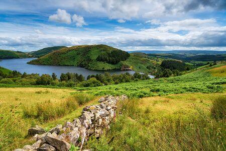 Summer at Llyn Clywedog reservoir near Llanidloes in Wales