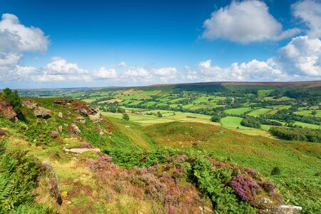 Looking out over Botton in the North York Moors National Park in Yorkshire 写真素材