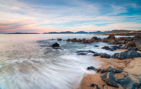 Bagh Steinigidh beach at Borve on the Isle of Harris in the Western Isles of Scotland