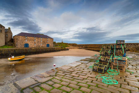 The quay at Portsoy a fishing harbour of Portsoy in Aberdeenshire in Scotland