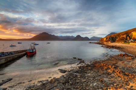 The harbour at Elgol on the Isle of Sky Stock fotó