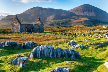 The ruins of the old manse at Kilchrist near Broadford on the Isle of Skye in Scotland