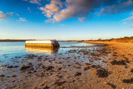 A sunny evening at Bramble Bush Bay at Studland on the Dorset coatline Stock fotó