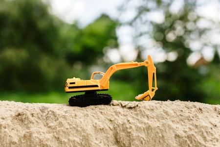 bases: excavator Stock Photo