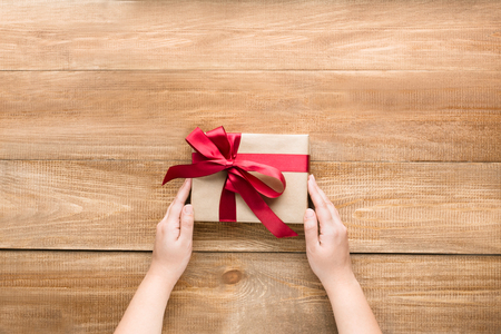 Search of a gift or syupriz for any holiday or an event Banco de Imagens