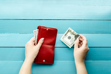 spend: to make purchases, to spend or save up money