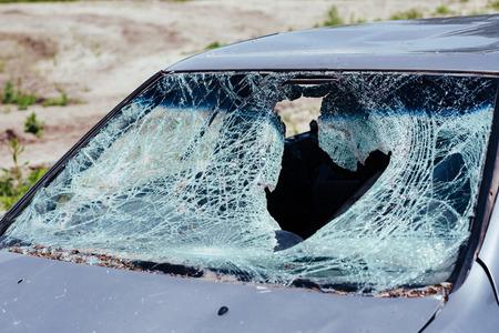 damaged: the broken and damaged car