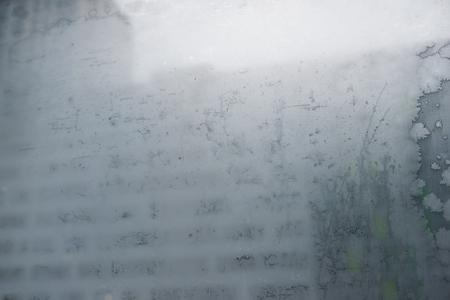 patterns on a windowpane during a winter season