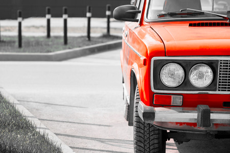 old russian red retro car