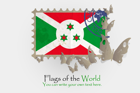 nationalism: vector flag measurements with butterflies from paper of Burundi