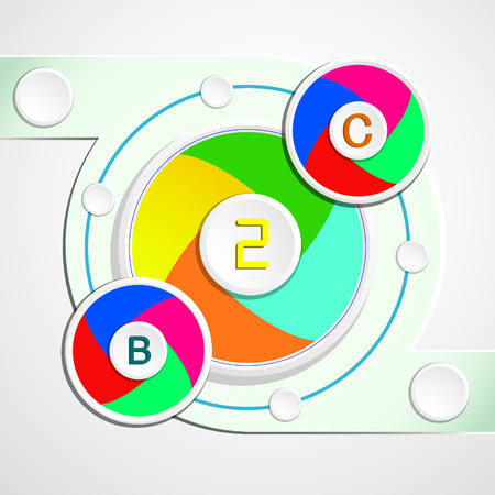 simple background: Vector Design - Simple and Colorful Circles Background
