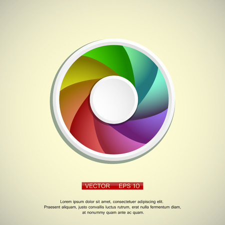 circl: Modern colorful geometrical circl design on a light background