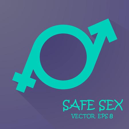 nude female: a symbol of masculinity and femininity. Vector eps 10