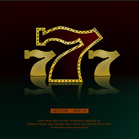 Casino symbol 777 vector background. Ilustração