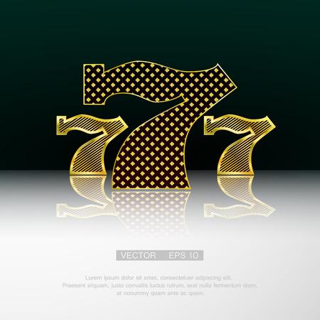 casino wheel: Casino symbol 777 vector background.  Illustration