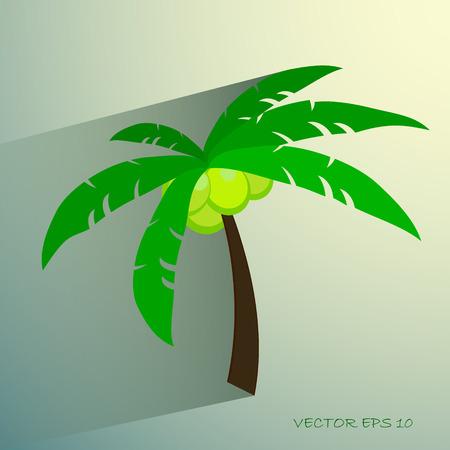 photorealistic: Palm tree isolated on white photo-realistic