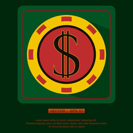 poker chip: Casino, Poker chip vector design