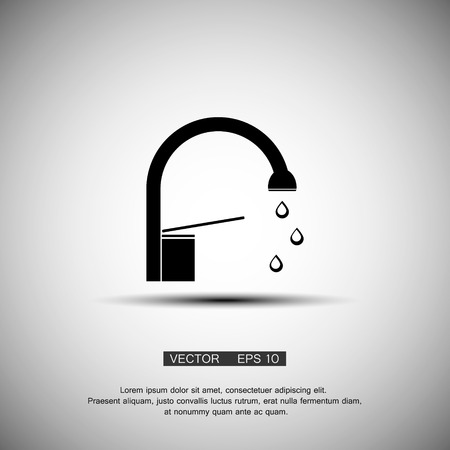 run off: A simple icon Water tap. vector eps 10