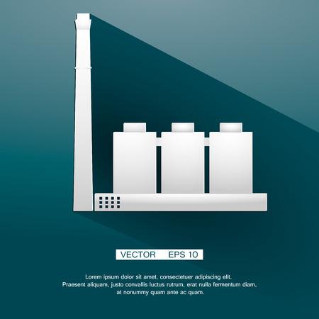 bedrijfshal: De industriële bouw fabriek en energiecentrales .Vector eps 10