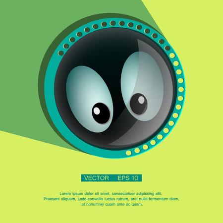 spying: Comic spying Eyes - Eyeballs vector - Staring - Surprised. Eps 10