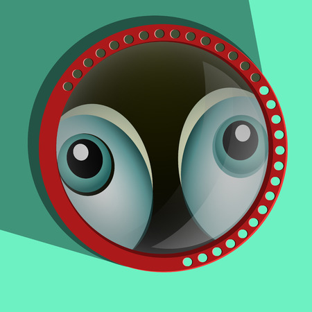 4 of a kind: Funny spying eyes - Eyeballs vector - Staring - Surprised. Eps 10 Illustration
