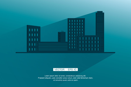 skylines: Modern Business City Concept, Shade. Vector background. Eps 10