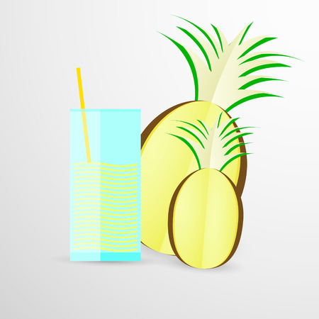 pineapple juice: pineapple juice vector illustration isolated on white background.