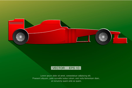 racecar: Formula race red detailed car designed by myself. vector Illustration