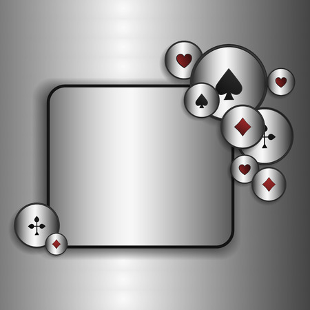 game show: Casino game poster. A Vector background for your Poker Tour. Write your message on the copy space.