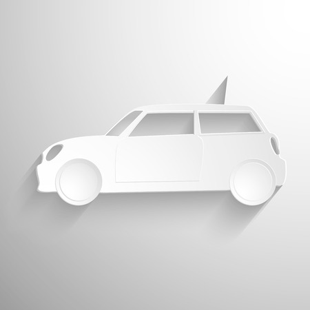paper forms: Cut paper forms a sport car silhouette. EPS10 vector background.