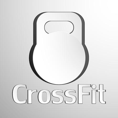 hard: Hard equipment for fitness. Crossfit. Vector baskgtound
