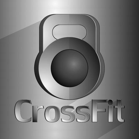 Hard equipment for fitness. Crossfit. Vector baskgtound Vector
