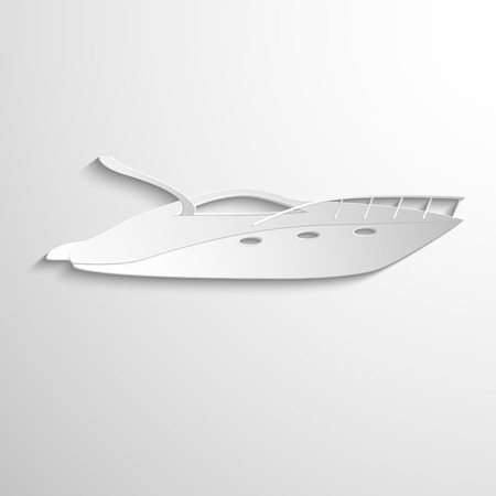 Luxury Yacht isolated on white background. Vector