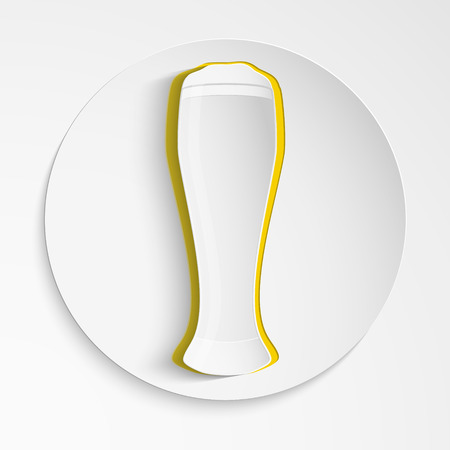 creative vector illustration with a glass of beer. Vector symbol or icon Vector