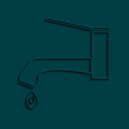 Water tap icon. Vector faucet sybol. Eps 10