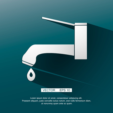Water tap icon. Vector faucet sybol. Eps 10 Vector