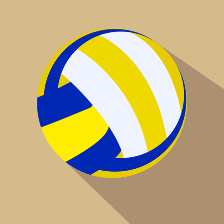 single color: Volleyball. Single color flat icon. Vector illustration. Eps 10