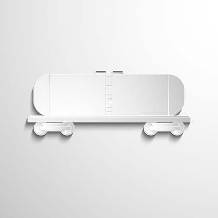versatile: White paper symbol cars and tanks. Delivery of goods Illustration