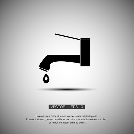 on tap: The tap water icon. Water symbol. Flat Vector eps 10